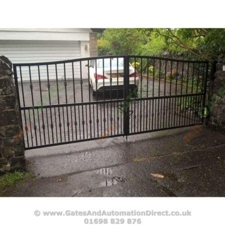 Tall Metal Driveway Gate 001 - Gates & Automation Direct