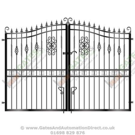 Tall Metal Driveway Gate 007