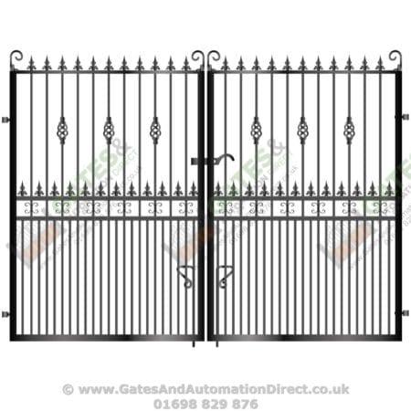Tall Metal Driveway Gate 009