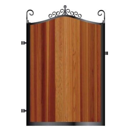 Metal Framed Timber Path Garden Gate 003