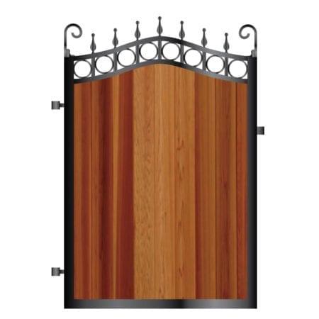 Metal Framed Timber Path Garden Gate 004