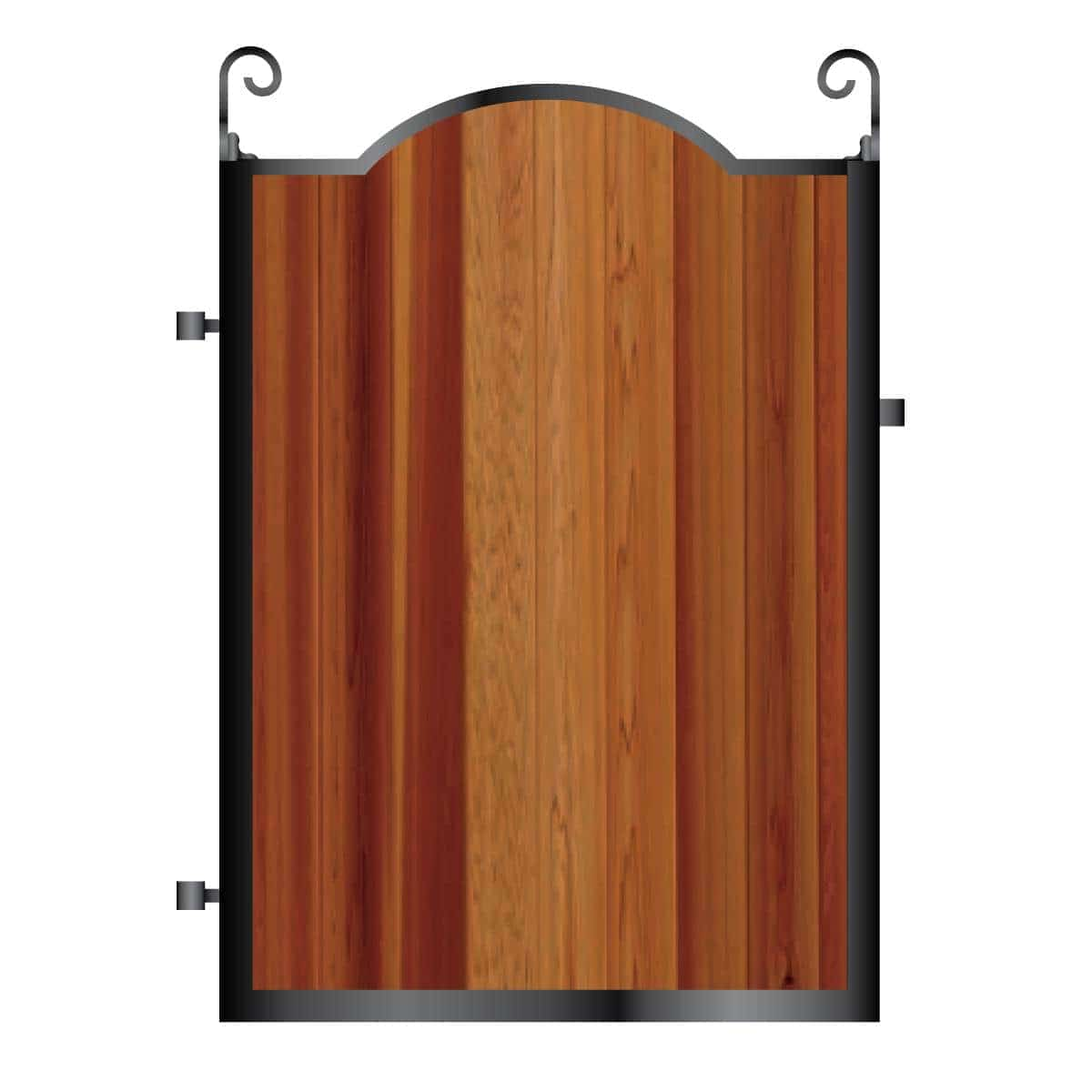 Metal Framed Timber Path Garden Gate 005 - Gates & Automation Direct