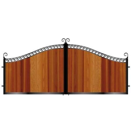 Short Timber Driveway Gate 005