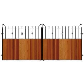 Metal Framed Timber Bi Fold Gates