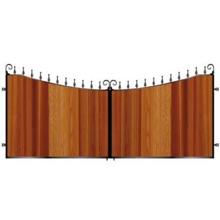 Short Timber Driveway Gate 007