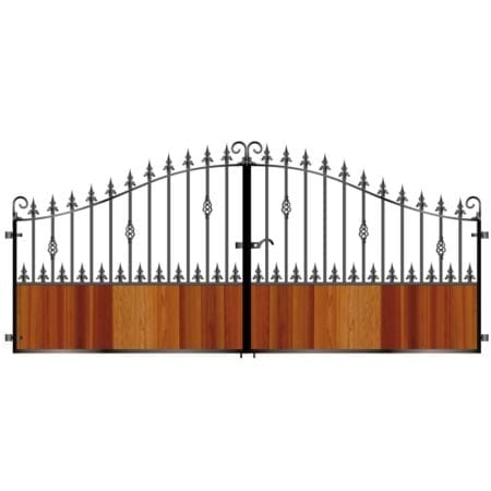 Short Timber Driveway Gate 008