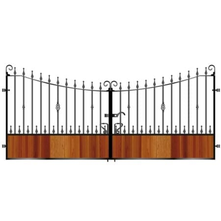 Short Timber Driveway Gate 009