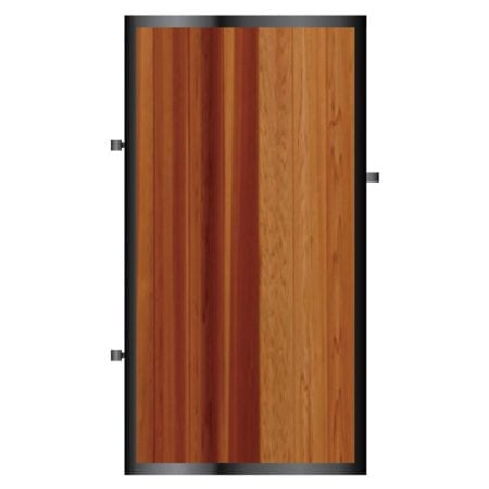 Tall Metal Framed Timber Side Gate 001