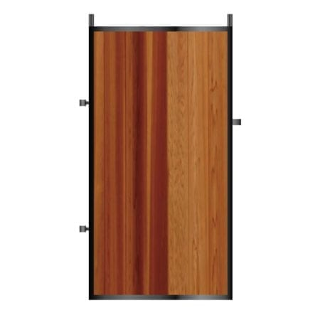 Tall Metal Framed Timber Side Gate 002