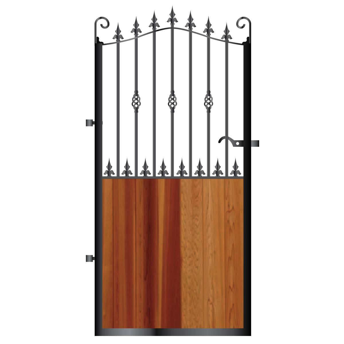 Tall Metal Framed Timber Side Gate 003 - Gates & Automation Direct