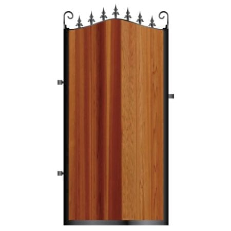 Tall Metal Framed Timber Side Gate 004