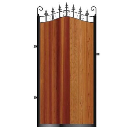 Tall Metal Framed Timber Side Gate 005