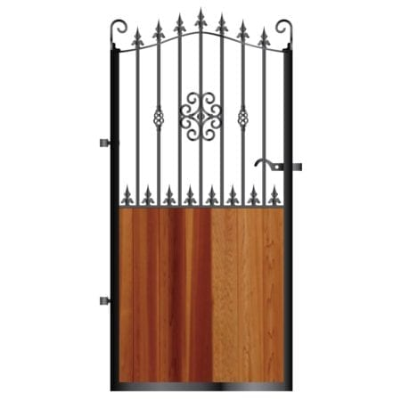 Tall Metal Framed Timber Side Gate 007
