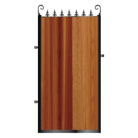 Tall Metal Framed Timber Side Gate 008