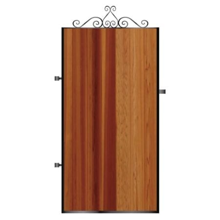 Tall Metal Framed Timber Side Gate 009