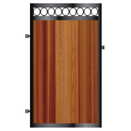 Tall Metal Framed Timber Side Gate 010