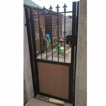 Tall Metal Framed Timber Side Gate 011