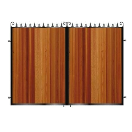 Tall Metal & Timber Driveway Gate 004