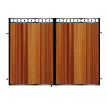Tall Metal & Timber Driveway Gate 006