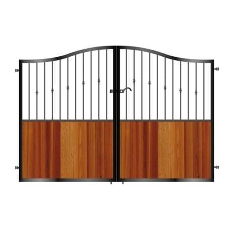 Tall Metal & Timber Driveway Gate 008