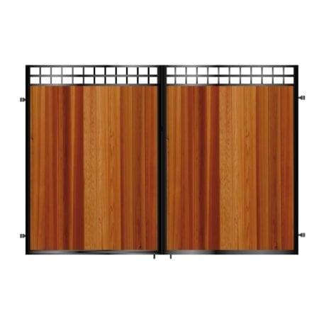 Tall Metal & Timber Driveway Gate 022