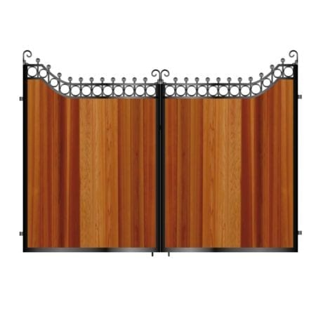 Tall Metal & Timber Driveway Gate 026
