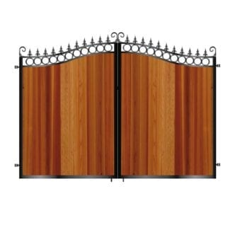 Metal Framed Timber Gates