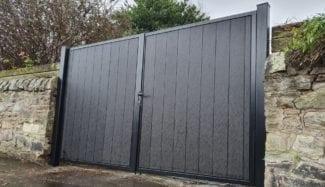 Bi Fold Metal Framed Composite Gates